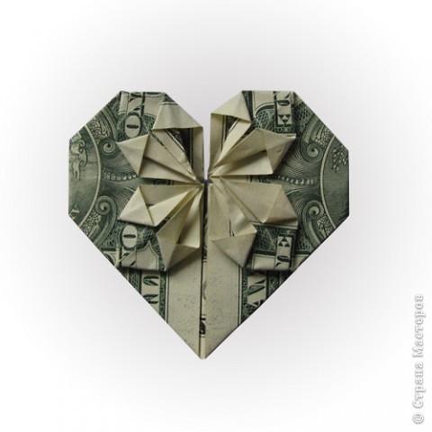 Сердце из доллара фото 1