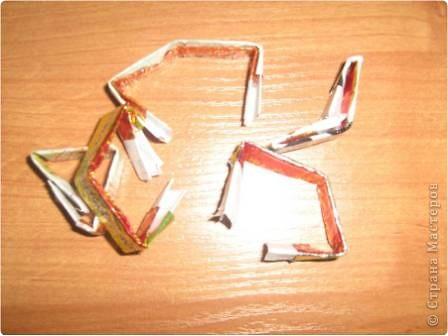 Моя небольшая коллекция корзиночек из фантиков.  фото 4