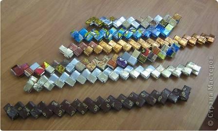 Моя небольшая коллекция корзиночек из фантиков.  фото 3