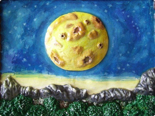 Первая моя картина-пейзаж, честно говоря получила большое удовольствие от лепки. фото 1