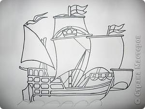 Старинные корабли... Благодаря Петру I в России стало развиваться кораблестроение.  На какое-то время я погрузилась в прошлое. Вот паруса, мудрый капитан, океан, дальние страны.  фото 2
