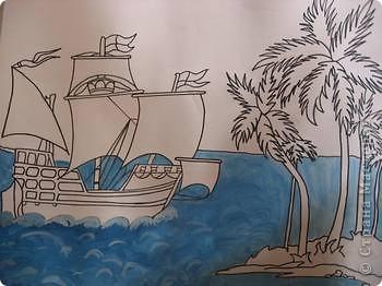Старинные корабли... Благодаря Петру I в России стало развиваться кораблестроение.  На какое-то время я погрузилась в прошлое. Вот паруса, мудрый капитан, океан, дальние страны.  фото 4