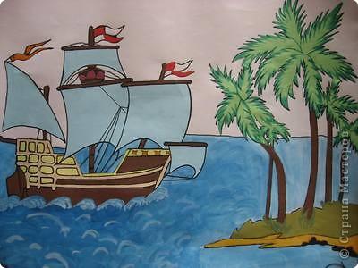 Старинные корабли... Благодаря Петру I в России стало развиваться кораблестроение.  На какое-то время я погрузилась в прошлое. Вот паруса, мудрый капитан, океан, дальние страны.  фото 5