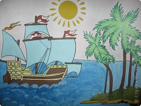 Старинные корабли... Благодаря Петру I в России стало развиваться кораблестроение.  На какое-то время я погрузилась в прошлое. Вот паруса, мудрый капитан, океан, дальние страны.  фото 1