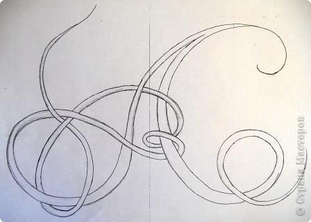 Первую букву старославянской письменности - Аз решила нарисовать в технике холодного батика. А еще это моя любимая буква, ведь я - Аленка.  Древнерусскую, языческую богиню утренней зари звали Алёна, что означает алая, красивая.   фото 2