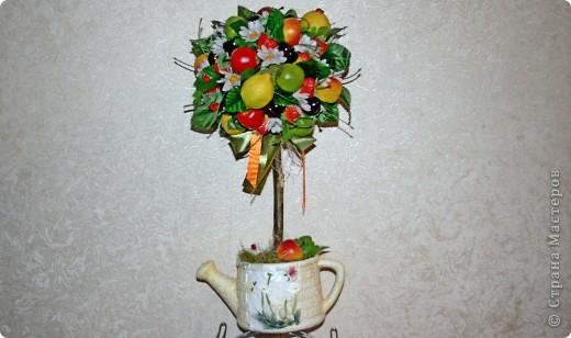 Дерево счастья из фруктов мастер класс