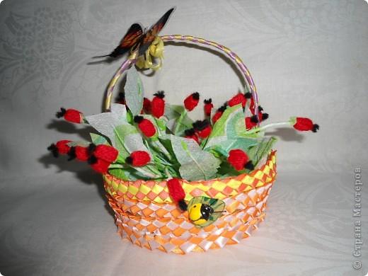 Можешь в нем носить цветы и орехи, и грибы. Потрудись - ка ты немножко, из лозы сплети лукошко. фото 1