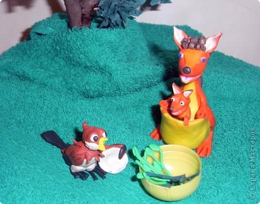 """Я решила продемонстрировать день мультипликации в виде известного мультфильма  """"Где обедал воробей?"""" по  стихотворению С. Маршака. Так очень быстро можно выучить стихотворение и узнать какие звери живут в зоопарке и что они едят.  фото 7"""