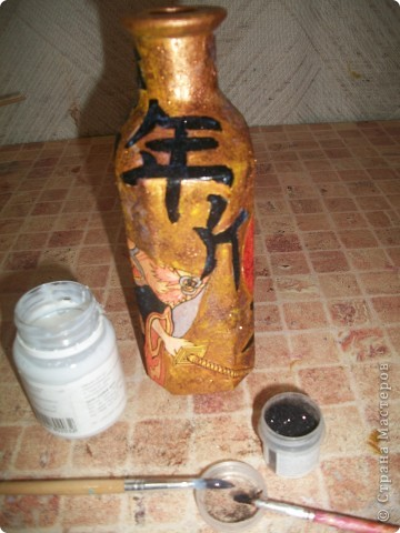 Бутылочка сделана для любимой мамочке (лицевая сторона)по заказу (сама выбирала тему). фото 6
