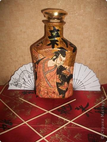 Бутылочка сделана для любимой мамочке (лицевая сторона)по заказу (сама выбирала тему). фото 8