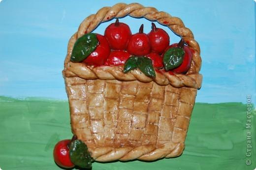 Вот такая у меня получилась корзинка с яблоками. фото 1