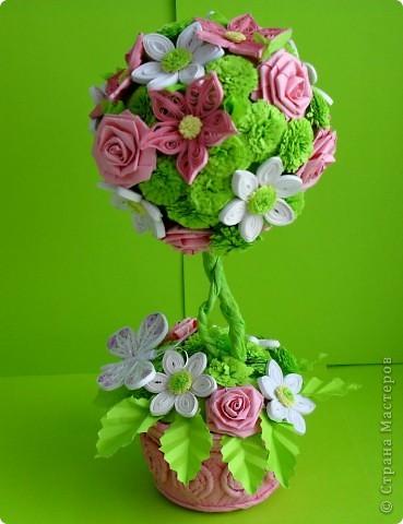Вот такое деревце счастья можно сделать в День топиария - 12 мая. Можно дополнить подарок открыткой с пожеланием счастья.  фото 5