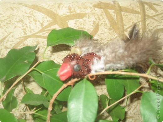 Для конкурса я сделала семью птичек. В гнезде 3 яйца и 1 птенчик, мама и папа соловьи. фото 7