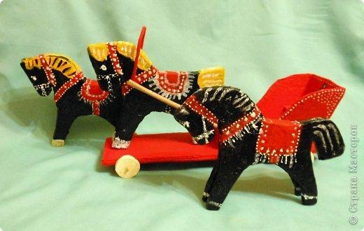 Городецкая игрушка лошадка - d9
