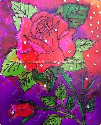 Витраж: Роза