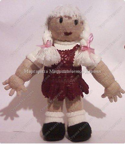 Вязание спицами: Кукла Ангелина фото 1