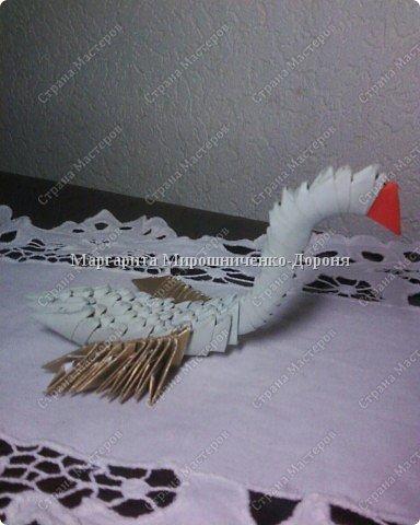 Оригами модульное: Маленький гусь