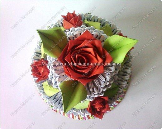 Оригами модульное: торт фото 1