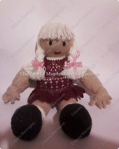 Вязание спицами: Кукла Ангелина фото 2