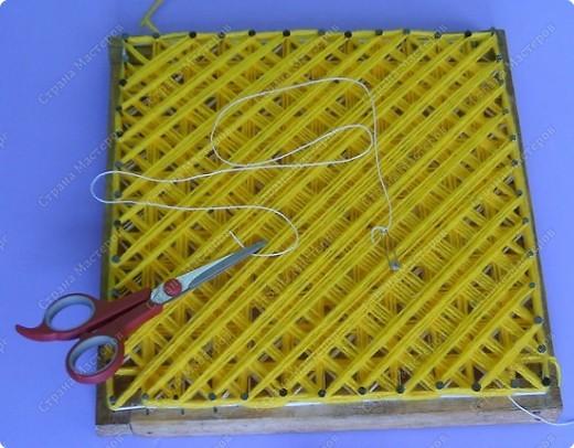 Мастер-класс по плетеной салфетке фото 6