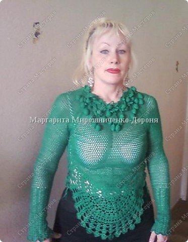 Вязание крючком: Блуза