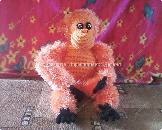 Вязание крючком: Добрый орангутанг Олимп фото 1