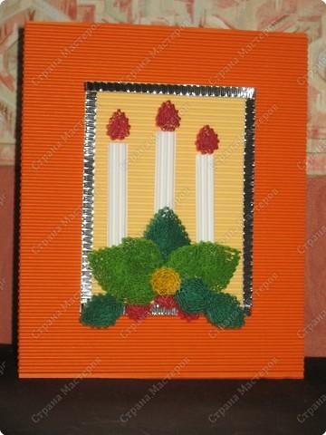 Готовый вид открытки, которую я сегодня сделала, посетив МК в Тимирязевском музее. МК проводила Елена Евдокимова. фото 1