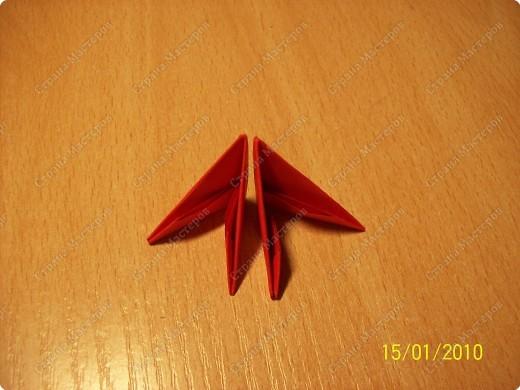 Мастер-класс Оригами китайское модульное мк Рыбка-скалярия Бумага фото 3
