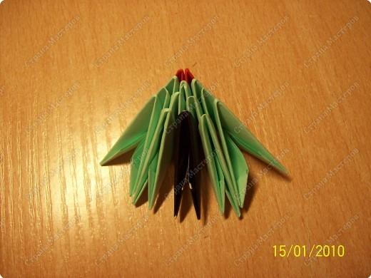 Мастер-класс Оригами китайское модульное мк Рыбка-скалярия Бумага фото 6