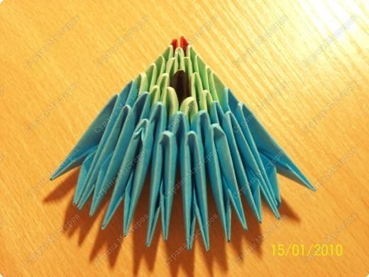 Мастер-класс Оригами китайское модульное мк Рыбка-скалярия Бумага фото 9