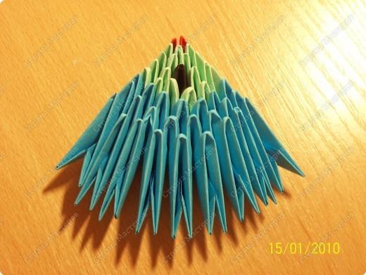 Мастер-класс Оригами китайское модульное мк Рыбка-скалярия Бумага фото 10