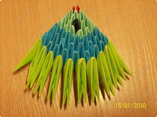 Мастер-класс Оригами китайское модульное мк Рыбка-скалярия Бумага фото 11