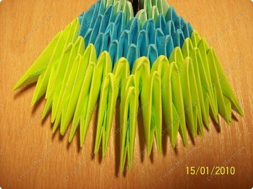 Мастер-класс Оригами китайское модульное мк Рыбка-скалярия Бумага фото 13