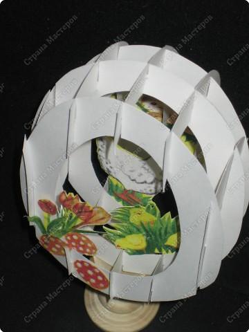 Вот такой тоннель получился у меня. Самое здоровское, что это яйцо можно сложить внутри открытки!  А мой первый тоннель, вы можете помотреть здесь https://stranamasterov.ru/node/16435  фото 15
