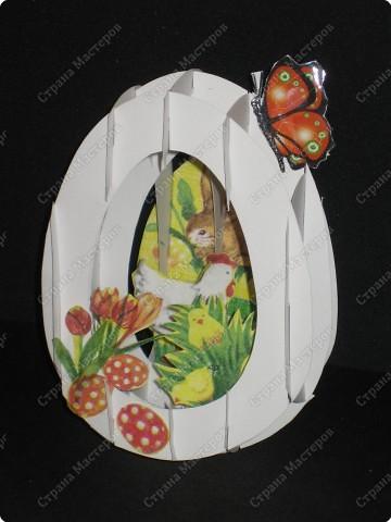 Вот такой тоннель получился у меня. Самое здоровское, что это яйцо можно сложить внутри открытки!  А мой первый тоннель, вы можете помотреть здесь http://stranamasterov.ru/node/16435  фото 1
