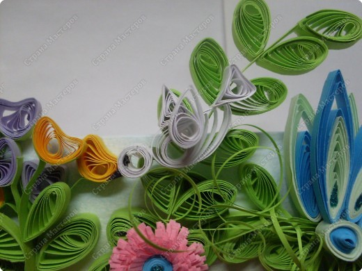 Декор предметов Квиллинг Часы в технике квиллинг Бумажные полосы фото 2