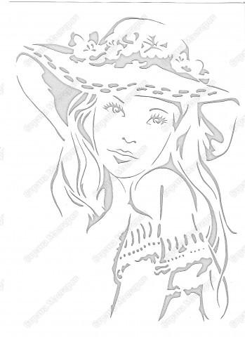 Картина панно рисунок Вырезание ПОРТРЕТ вырезалка Бумага фото 2.