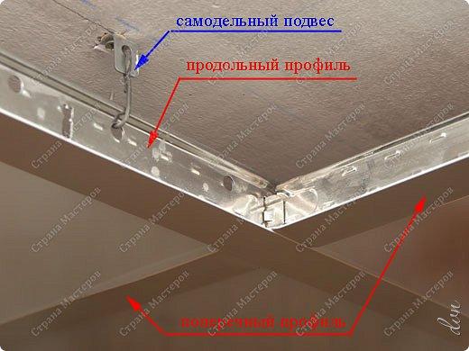"Vasil Dziashkouski hand made. [video:https://www.youtube.com/watch?v=6mLZUxPFES0 width:640 height:360 ]  Это окончательный вид подвесного потолка из гипсокартона и профилей типа ""Армстронг"".  фото 17"