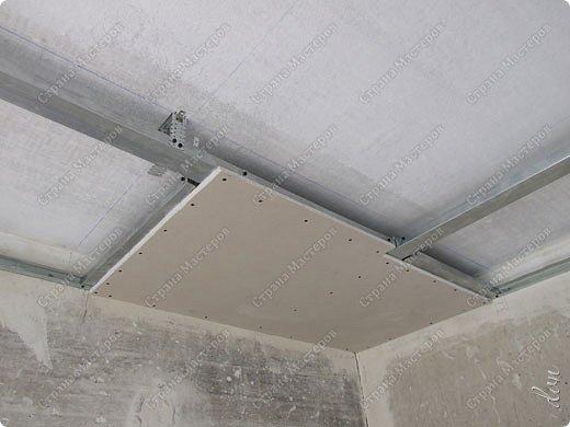 "Vasil Dziashkouski hand made. [video:https://www.youtube.com/watch?v=6mLZUxPFES0 width:640 height:360 ]  Это окончательный вид подвесного потолка из гипсокартона и профилей типа ""Армстронг"".  фото 7"