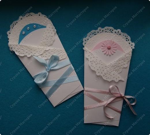 Мк открытка конверт для новорожденного