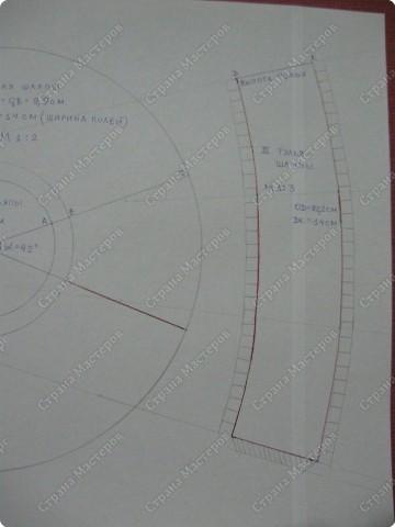 Это - модификация базовой модели, представленной в предыдущем МК. Она отличается от нее формой тульи, которая является уже усеченным конусом, а не цилиндром. На фото моя ученица со своей работой, которую она выполнена по следующей выкройке. фото 5