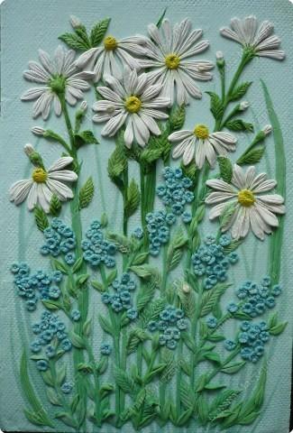 Мастер-класс Лепка Луговые цветы Тесто соленое фото 15