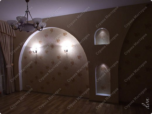 Vasil Dziashkouski hand made. [video:https://www.youtube.com/watch?v=7SE3YSClmgU width:640 height:360 autoplay:1]   И снова работаем с гипсокартоном. Вот такую конструкцию соорудил в зале на стене. фото 39