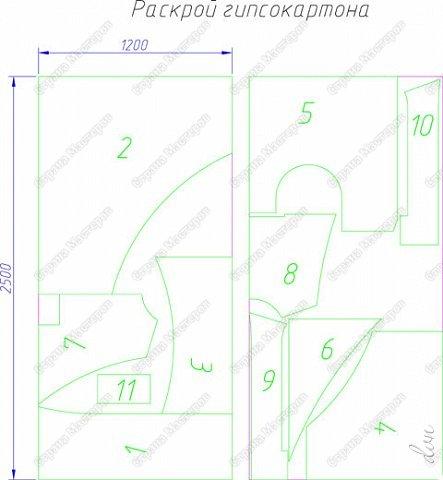 Vasil Dziashkouski hand made. [video:https://www.youtube.com/watch?v=7SE3YSClmgU width:640 height:360 autoplay:1]   И снова работаем с гипсокартоном. Вот такую конструкцию соорудил в зале на стене. фото 4