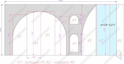Vasil Dziashkouski hand made. [video:https://www.youtube.com/watch?v=7SE3YSClmgU width:640 height:360 autoplay:1]   И снова работаем с гипсокартоном. Вот такую конструкцию соорудил в зале на стене. фото 6