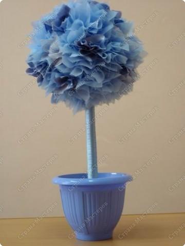 """мне так понравилось делать""""фунтики""""(букет из цветов) и вот такое дерево-счастье у меня получилось  фото 1"""