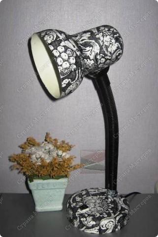 Своими руками настольную лампу декорировать