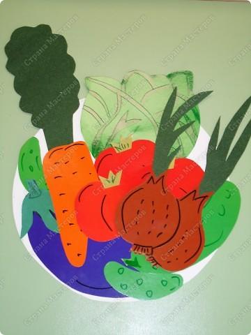 Тарелка с овощами.