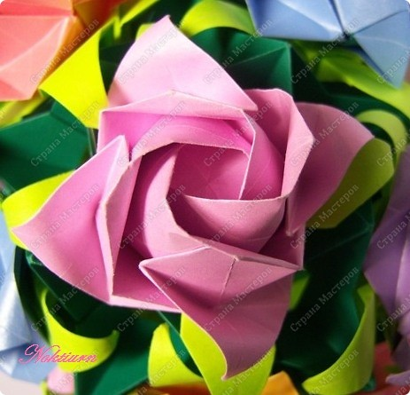 Кусудама Оригами Розы на