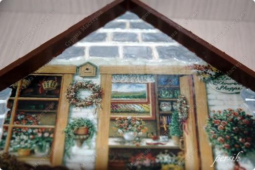 Деревянная заготовка, декупажная карта,структурная паста,яичная скорлупа,акриловые краски,лак. фото 3